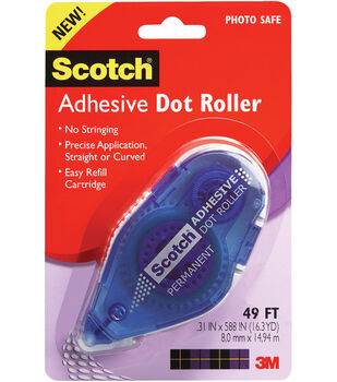 "Scotch .31""x49' Adhesive Dot Roller"