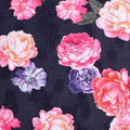 Check it Jacquard Fabric-Large Floral on Navy