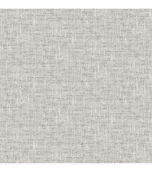 Wallpops NuWallpaper Peel & Stick Wallpaper-Gray Poplin Texture