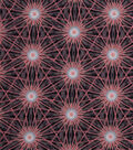 Modern Cotton Fabric -Pink Star Bursts