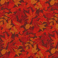 Harvest Cotton Fabric-Burgundy Leaves