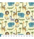 Snuggle Flannel Fabric 43\u0027\u0027-Animals in the Wild