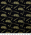 Fantastic Beasts Cotton Fabric-Logo and Wand Met