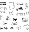 Simple Stories Carpe Diem 17 pk Photopolymer Clear Stamps-Faith