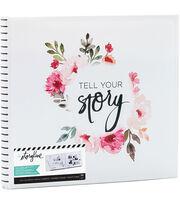 Heidi Swapp Storyline2 Post Bound Album-Floral on White, , hi-res
