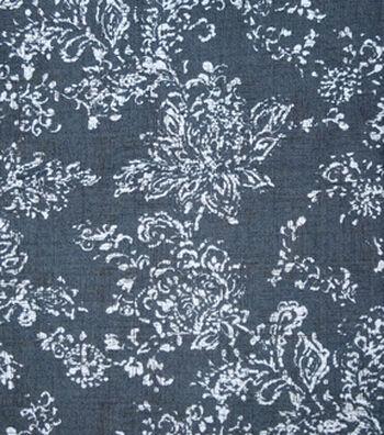 Printed Denim Fabric 57''-Damask