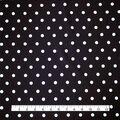 Summer Ponte Knit Fabric 57\u0027\u0027-White Dots on Black