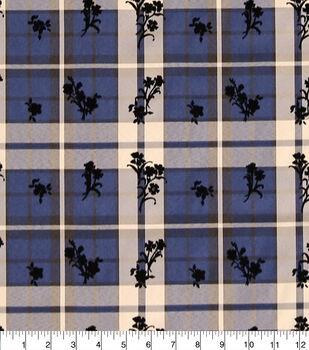 Sew Sweet Diamond Tartan Plaid Taffeta Fabric-Floral Flocking
