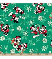 Disney Mickey & Minnie Fleece Fabric-Snowflake Toss, , hi-res