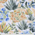 Anti-Pill Plush Fleece Fabric-Textured Floral Watercolor