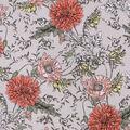Sportswear Stretch Twill Fabric-Coral Floral on Tan