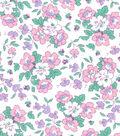 1930\u0027s Premium Cotton Print Fabric 43\u0027\u0027-Floral Garden on White