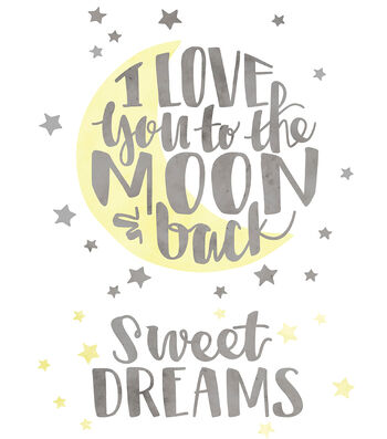 Cricut Large Iron-On Design-I Love you to the Moon & Back