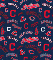 Cooperstown Cleveland Indians Cotton Fabric, , hi-res