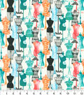 Novelty Cotton Fabric 44\u0027\u0027-Dress Forms