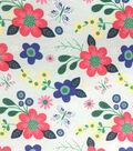 Doodles Collection Interlock Fabric-Butterfly Garden Mint
