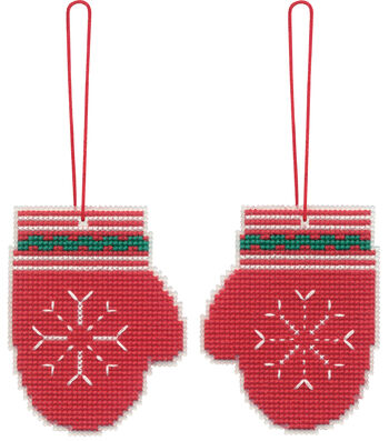 Stitch Kit Ornament-Mittens