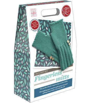 The Crafty Kit Co. Crochet Kit-Fingerless Mitts