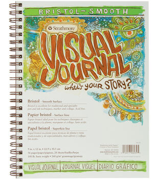 "Strathmore Visual Journal Bristol Smooth 9""X12""-28 Sheets"