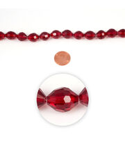 Blue Moon Strung Machine Cut Crystal Beads,Oval,Red,Facetted, , hi-res