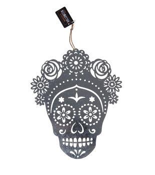 Maker's Halloween Craft 9.52''x0.01'' Metal Girl Sugar Skull