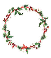 Kaisercraft Home For Christmas Cardstock Die-Cut-Holly Wreath, , hi-res