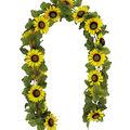 Blooming Autumn 66\u0027\u0027 Sunflower Chain Garland-Yellow