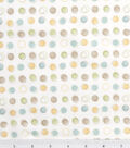 Nursery Flannel Fabric 42\u0022-Oh Baby Stitch Dot