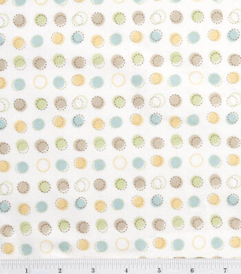 "Nursery Flannel Fabric 42""-Oh Baby Stitch Dot"