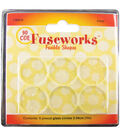 Diamond Tech Fusible Clear Glass Rounds 6Pk-Clear