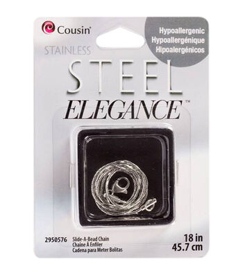 """Stainless Steel Elegance 18"""" Chains Slide-A-Bead"""