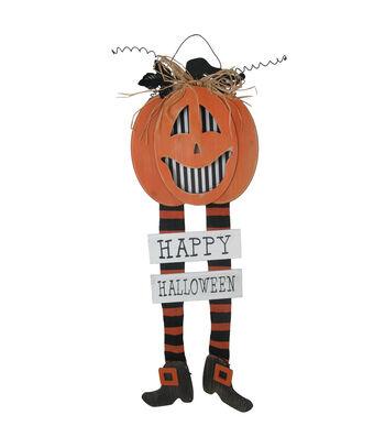 Maker's Halloween LED Jack-o'-lantern with Legs-Happy Halloween