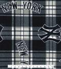 New York Yankees Fleece Fabric -Plaid