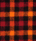 Plaiditudes Brushed Cotton Fabric-Orange, Rust & Black Checked