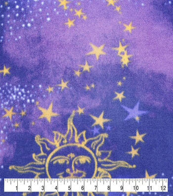 Anti-Pill Plush Fleece Fabric-Celestial