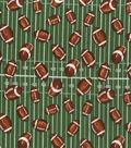 Novelty Cotton Fabric -Footballs on Field