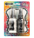 Dylusions Ink Spray 2 Pack-White Linen & Black Marble