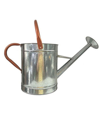 Hello Spring Gardening Galvanized & Copper Watering Can