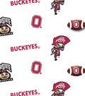 Ohio State University Buckeyes Cotton Fabric 43\u0022-Allover