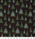 Christmas Cotton Fabric 43\u0022-Lodge Christmas Trees