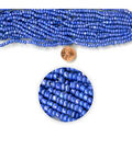 Blue Moon Strung Glass Seed Bead Hank,Blue AB