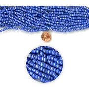 Blue Moon Strung Glass Seed Bead Hank,Blue AB, , hi-res