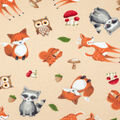 Super Snuggle Flannel Fabric-Tossed Baby Animals