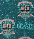 Fantastic Beasts Logo & Wand Cotton Fabric