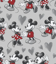 Disney Mickey & Minnie Mouse Fleece Fabric 59''-Vintage Fun, , hi-res