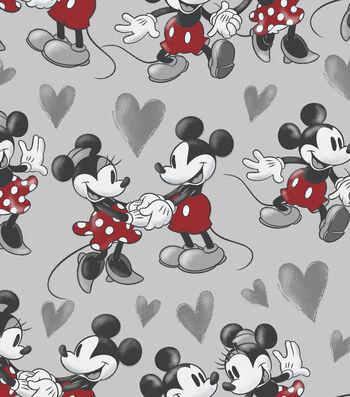 Disney Mickey & Minnie Mouse Fleece Fabric 59''-Vintage Fun
