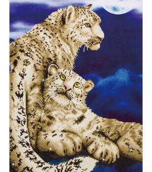 "Diamond Embroidery Facet Art Kit 34.2""X22.7""-Snow Leopards"