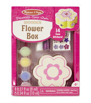 Melissa & Doug Decorate-Your-Own Wooden Flower Box Craft Kit, , hi-res