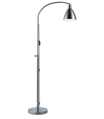 Daylight Flexi-Vision Floor Lamp-Silver