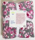 No Sew Fleece Throw 72\u0022-Orchid Floral